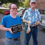 Michael and Buddy Volunteer with Meals on Wheels